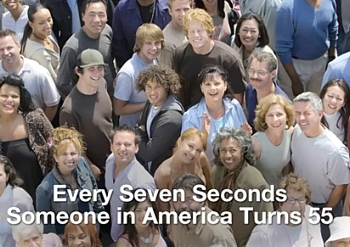 Every Seven Seconds Someone in America Turns 55.